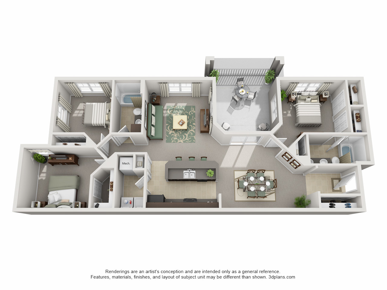 apartment in tampa | century cross creek floor plans