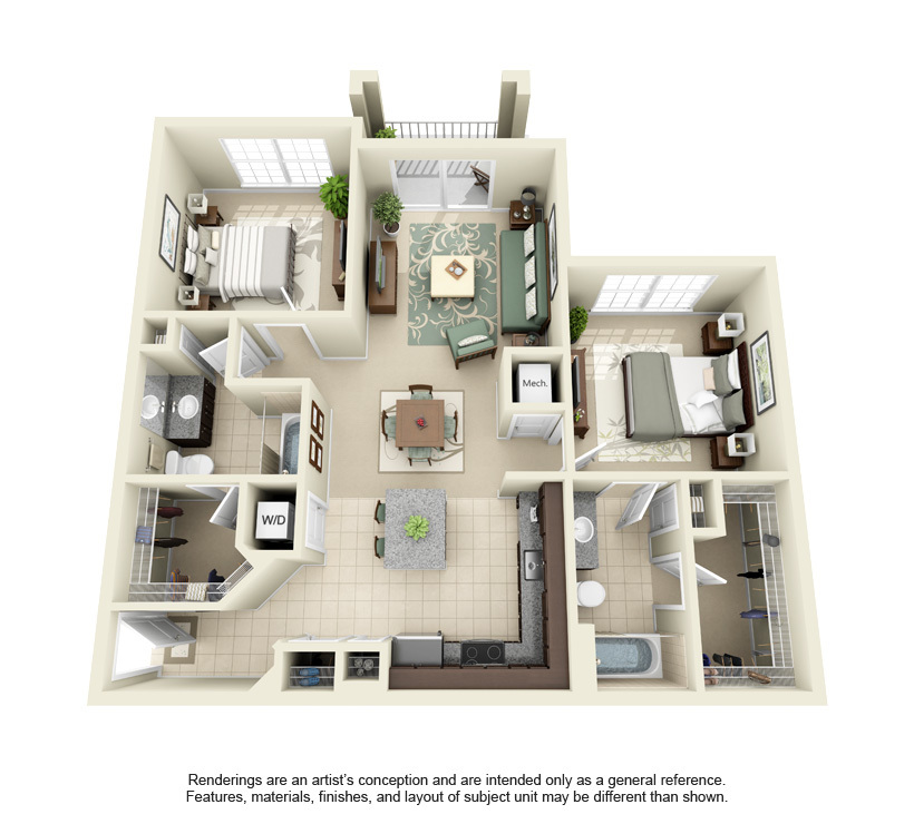 Brandon Apartments Floorplans Century Crosstown