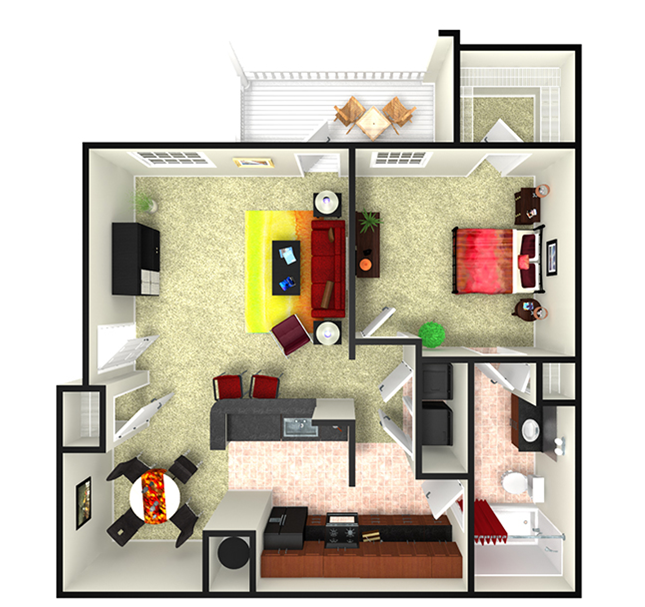 Rooms: Apartments In Webster, TX (With Smart Entry)