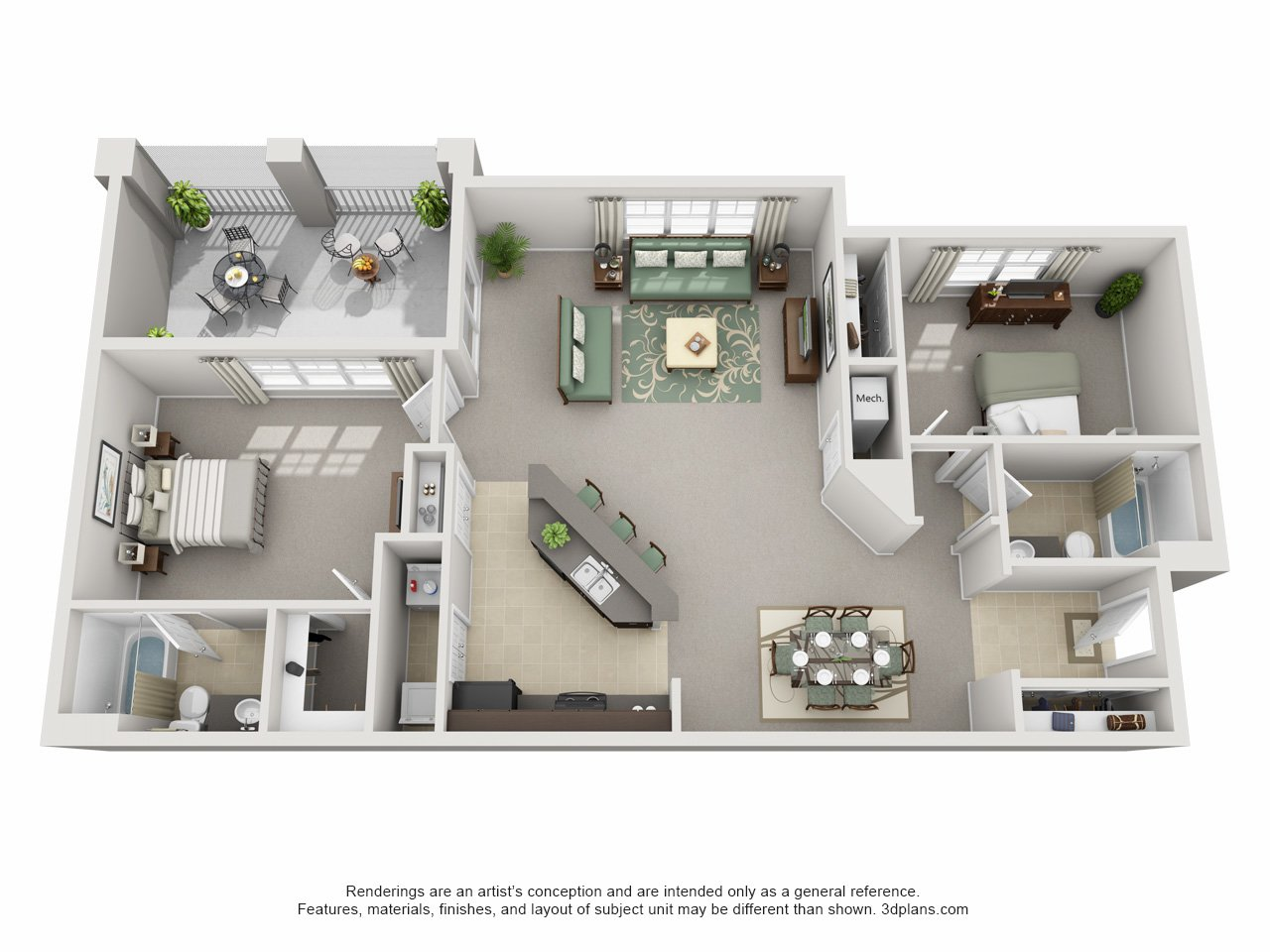 One bedroom apartments in ta fl 1 bedroom houses for for Ta home decor