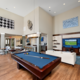 Billiard area of Century Tryon Place Apartments