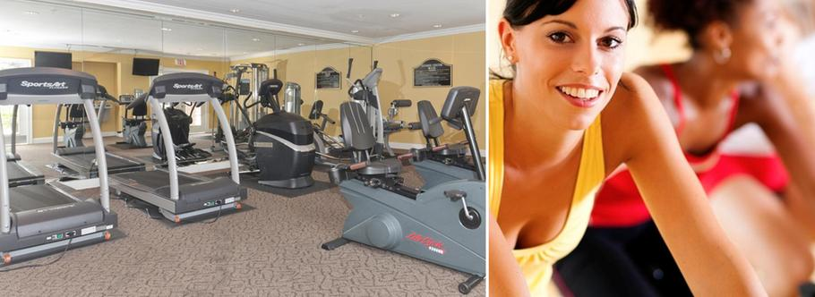 Fitness center of Century Sugarloaf Apartments