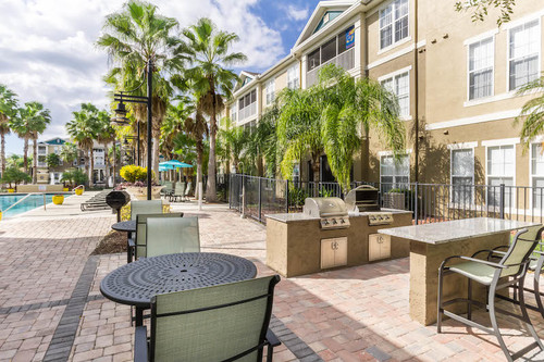 Century Falls Apartments Poolside Barbecue Grills