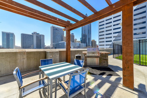 Century Skyline Apartment Homes Rooftop Grilling Area